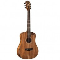 Washburn WCGM55K Comfort Series KOA WOOD TOP 3/4 Size Acoustic Guitar - BLE