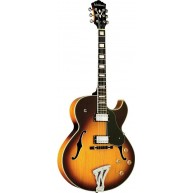 Washburn J3TSK-O Jazz Style Cutaway Sunburst Electric Guitar with Deluxe Ca