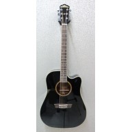 Washburn WD32SCEB Gloss Black Acoustic Electric Cutaway Guitar - New Old St