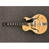 Washburn Model J3NK Natural Jazz Style Hollow Body Electric Guitar - Blem #