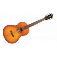 Washburn Timeless Collection Parlor Acoustic Guitar with Hardshell Case – B