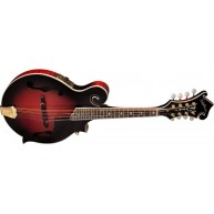 Washburn M3SWETWRK F-style Trans Red Acoustic Electric Mandolin w/Case - Bl