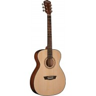Washburn AF5K-A Apprentice Series Travel Folk Size Acoustic Guitar with Cas