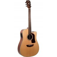Washburn HD100SWCEK Heritage All Solid Acoustic Electric Guitar with Case