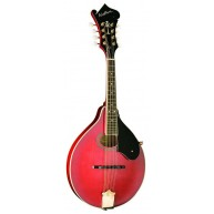 Washburn M1SDLTR A-Style Solid Spruce Top Mandolin in Red Gloss Finish - B1
