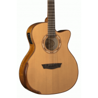 Washburn WCG66SCE-O Comfort Series Solid Cedar Top Acoustic Electric Guitar