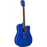 Washburn WD10CEBL Apprentice Series Acoustic Electric Guitar in Blue Finish