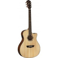 Washburn WLO10SCE Woodline Series Solid Top Orchestra Acoustic Electric Gui