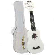 Diamond Head DU-109 Rainbow Soprano Ukulele - White - Great for Autographs