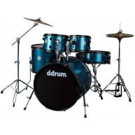 Ddrum d2 Player 5-Piece Drum Set with Hardware and Cymbals-Blue Pinstripe F
