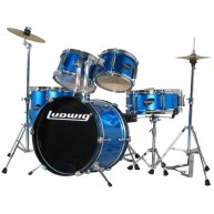 Ludwig Junior 5 Piece Drum Set with Cymbals (Blue)  - B stock - #N182