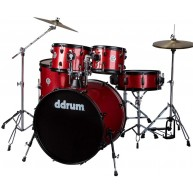 Ddrum d2 Player 5-Piece Drum Set with Hardware and Cymbals - Red Sparkle Fi