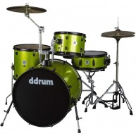 Ddrum D2R LIME SPKL D2 Rock 4PC Drum Kit (Lime Sparkle) w/Hardware and Cymb
