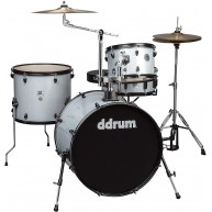 Ddrum D2R SILVER SPARKLE D2 Rock 4PC Drum Kit with Hardware and Cymbals