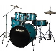 Ddrum d2 Player 5-Piece Drum Set with Hardware and Cymbals - Blue Sparkle F
