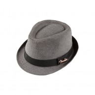 Genuine Fender Black & Gray Unisex Houndstooth Fedora with Fender Pin -Size