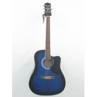Eko Model KWBB - Dreadnought Size Acoustic Guitar in Blue Burst Finish