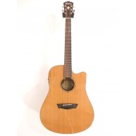Washburn WD160SWCE Dreadnought Solid Wood Acoustic Electric Guitar - Blem #