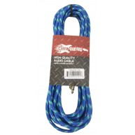 "Effin Guitars FNG20VTBL - 20FT 1/4"" Blue Vintage Tweed Instrument Cable - N"