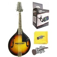 "Lucky Penny LPM 20 ""A"" Style Violinburst Finish Mandolin w/Clip-on Tuner +"
