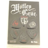 MOTLEY CRUE Officially Licensed Guitar Picks 6 Pick Pack Collectable Perri'