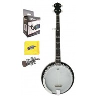 Stagg BJM30DL Deluxe 5 String Bluegrass Banjo - Resonator w/Effin Tuner and
