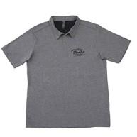 Fender Industrial Gray Polo Short Sleeve T Shirt Mens Size 2XL #9131004706