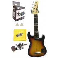 Effin Guitars UKESTART/SB solid body Electric Ukulele W/Effin Tuner + More
