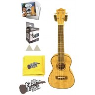 Amahi UK880C-EQ Concert Quilted Ash A/E Ukulele w/Gig Bag, strings + More