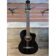 Cordoba C5-CEBK Black Classical Acoustic-Electric Guitar Cedar Top - Blem #