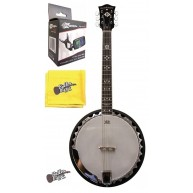 Oscar Schmidt OB6 30 Bracket 6 String Closed Back Banjo w/ Effin Tuner + Mo