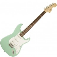 Fender Squier Affinity Strat Surf Green Stratocaster Electric Guitar-#03106
