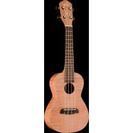 Oscar Schmidt Model OU2TF Flame Maple Satin Finish Tenor Ukulele w/chrome t