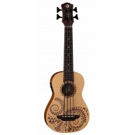 Lune UKE BBASS TAT Acoustic Electric 4-String Tattoo Bari-Bass Ukulele with