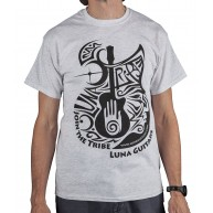 Luna Musical Instruments Cotton Ash Gray Graphic T-Shirt - Mens Size Large