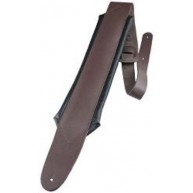 "Perri's 2.5"" Deluxe Brown Padded Leather Guitar Strap w/3.5"" Pad DL625-2123"