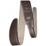 Perri's Leathers Brown Leather Guitar or Bass Strap Double Stitched #P25ST-