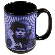 Genuine Fender Jimi Hendrix Kiss The Sky Purple Ceramic Coffee Mug #9100282