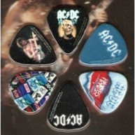 AC/DC Officially Licensed 6 Pack of Collectible Guitar Picks by Perri's #LP