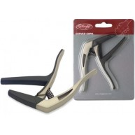 Stagg SCPX-CU/BG Beige Curved Trigger Clamp Style Spring Steel Guitar Capo