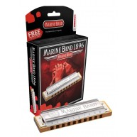 Hohner Marine Band Harmonica in the Key of Minor Bb Model 1896BX German Qua