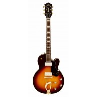 Guild M-75 Aristocrat Sunburst Solid Body Electric Guitar with Case - Blem