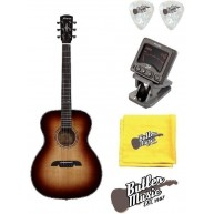 Alvarez AFA1965 Anniversary Acoustic OM/Folk Guitar w/Clip-on Tuner + More!