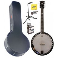 Oscar Schmidt OB6 30 Bracket 6 String Closed Back Banjo w/Hard Case + More