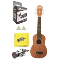 Oscar Schmidt Model OU12 Ukulele w/Effin Tuner Felt picks and Polish cloth