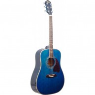 Oscar Schmidt OG2TBL - Transparent Blue Dreadnought Size Acoustic Guitar -