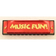 Hohner Music Fun Harmonica in the Key of C in Bright Red Color 10 Hole Diat