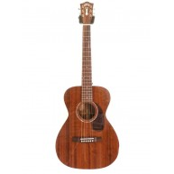 Guild M-120E Natural Solid Mahogany Acoustic Electric Guitar with Case Blem