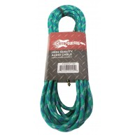 Effin Guitars 20 Foot Green Vintage Tweed Instrument Cable 20' / 6m -#FNG20
