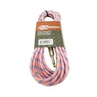 "Effin Guitars FNG20VTPK - 20FT 1/4"" Pink Vintage Tweed Instrument Cable - N"